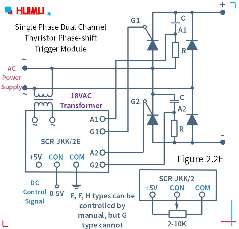How to wire MGR mager 단상 듀얼 채널 사이리스터 위상 편이 트리거 모듈 (SCR-JKK/2) (static dv/dt improved version)? More detail via www.@huimultd.com