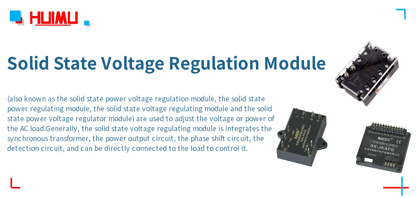 What is Solid State Voltage Regulation Module? More detail via www.@huimultd.com